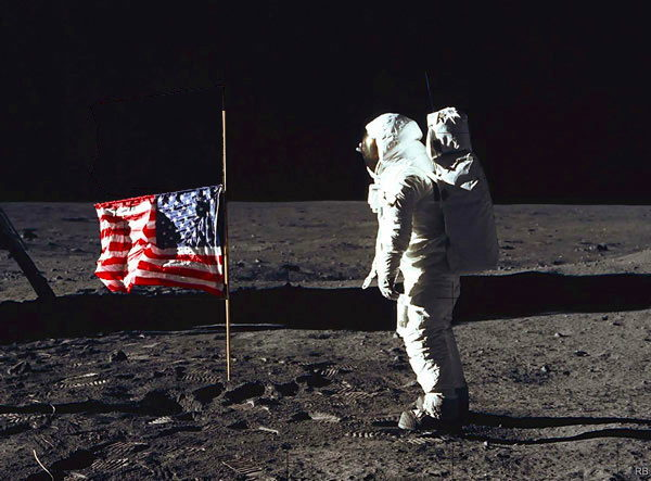 Neal Armstrong RIP - Moon Flag at half mast